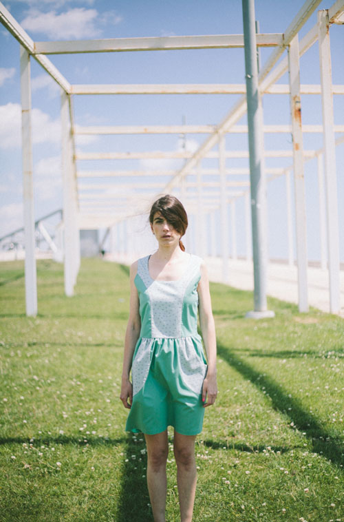 Green polyhedra dress